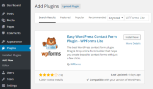 Contact WordPress Plugin Usage