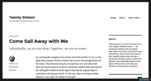 Free WordPress Native Themes Portfolio