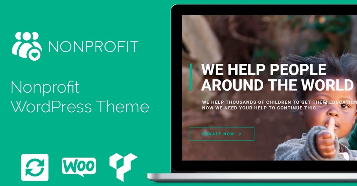 nonprofit wordpress theme charity donations template. Black Bedroom Furniture Sets. Home Design Ideas