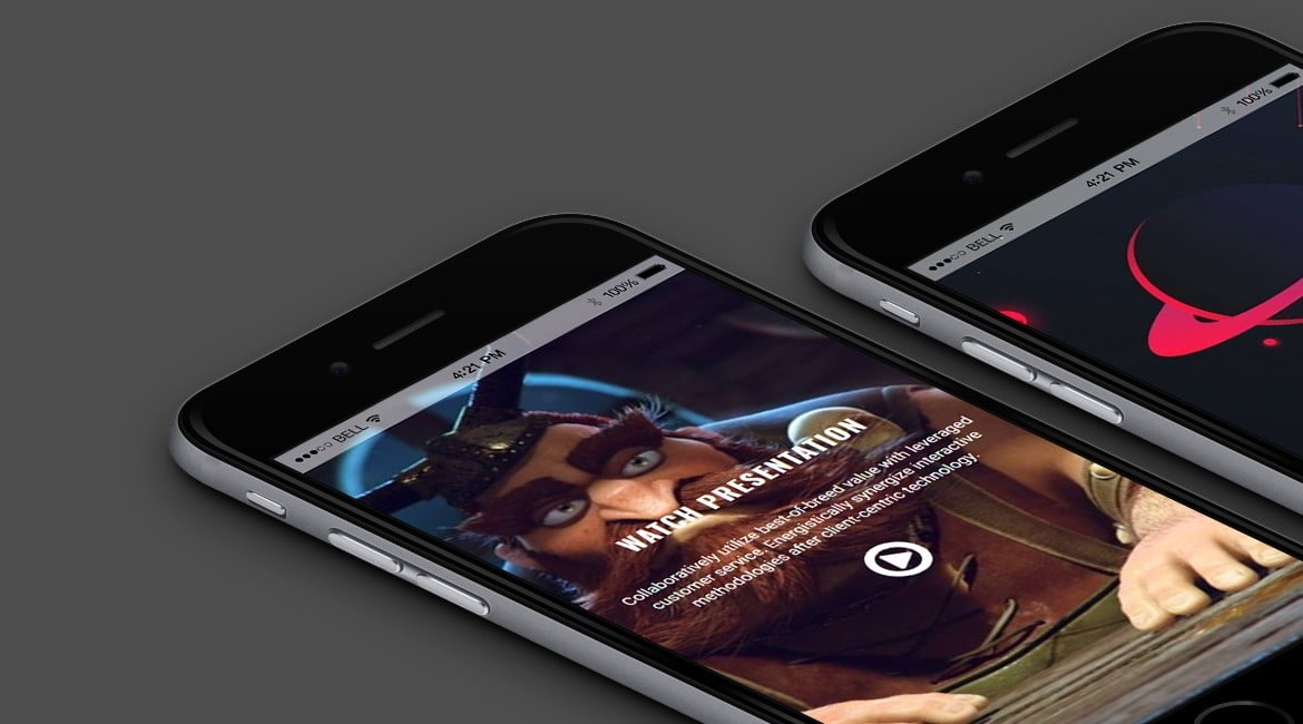 Dark WordPress Theme - Mobile View