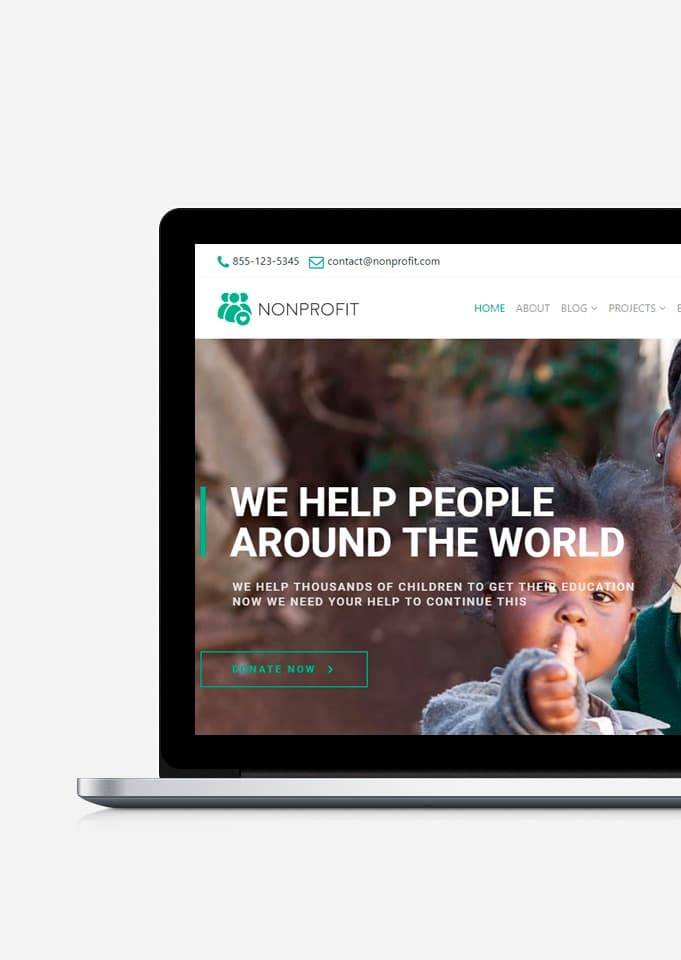 Nonprofit WordPress Theme – Charity & Donation Site Builder