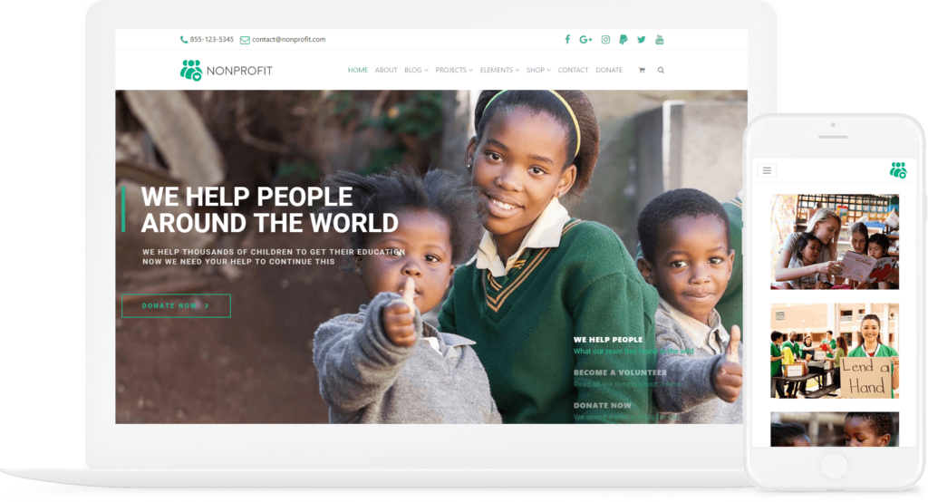Nonprofit WordPress Theme - Charity & Donation Site Builder