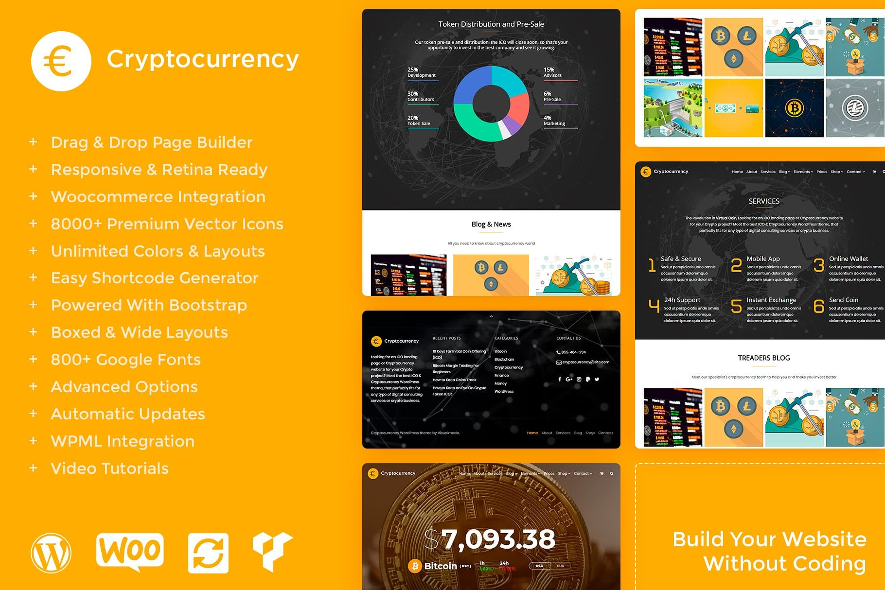 Bitcoin WordPress Theme - Cryptocurrency WordPress Theme - Presentation