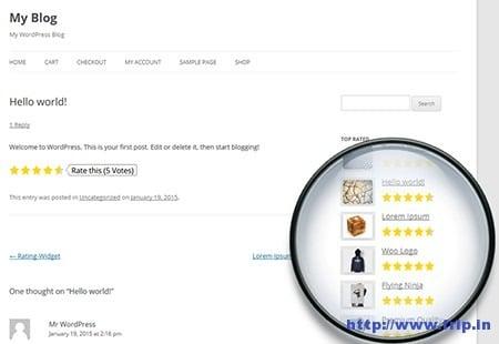 Free Star Rating WordPress Plugins