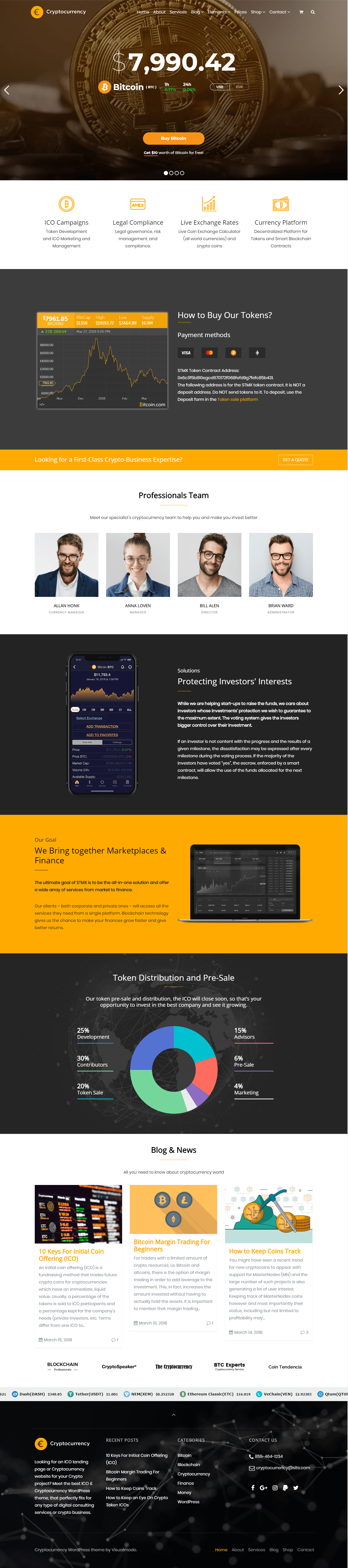 Home-Page - Cryptocurrency WordPress Theme