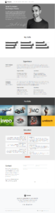 Resume WordPress Theme - One-Page Home CV WordPress Theme