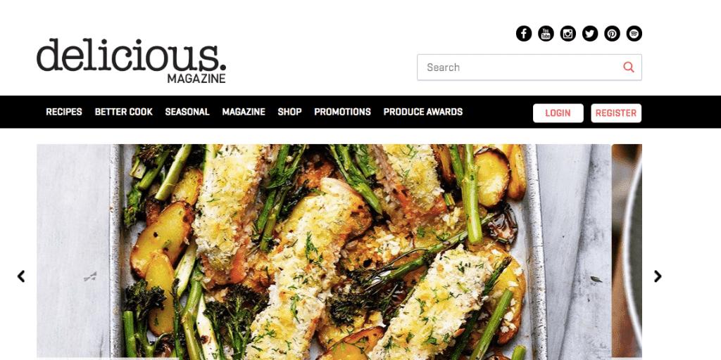 Delicious Mag Website