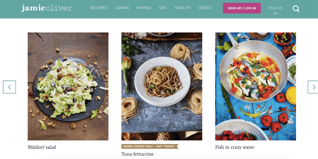 Jamie Oliver Website
