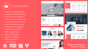 Employment WordPress Theme - Job Portals Websites Builder