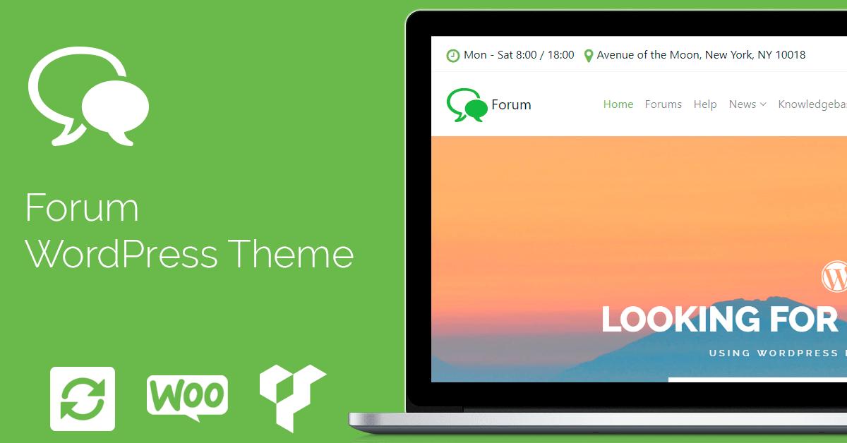 Forum WordPress Theme - bbPress & BuddyPress Template