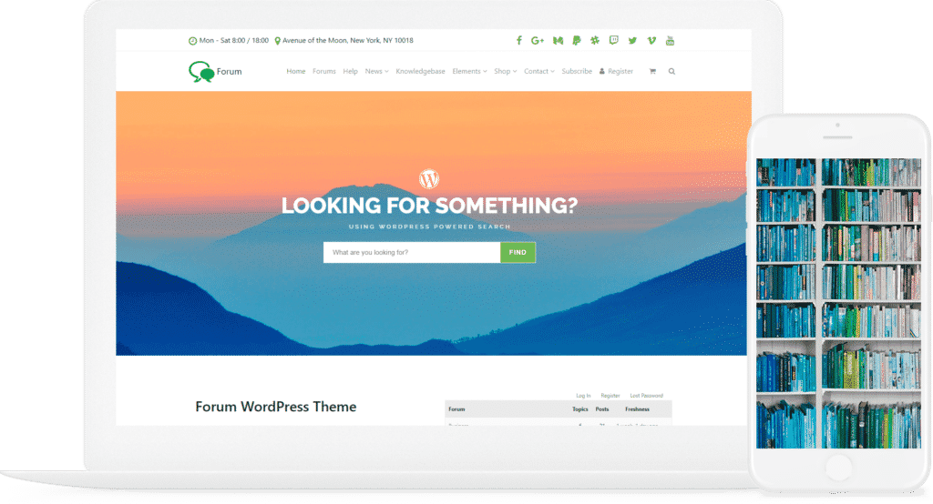 Forum WordPress Theme - bbPress & BuddyPress Template