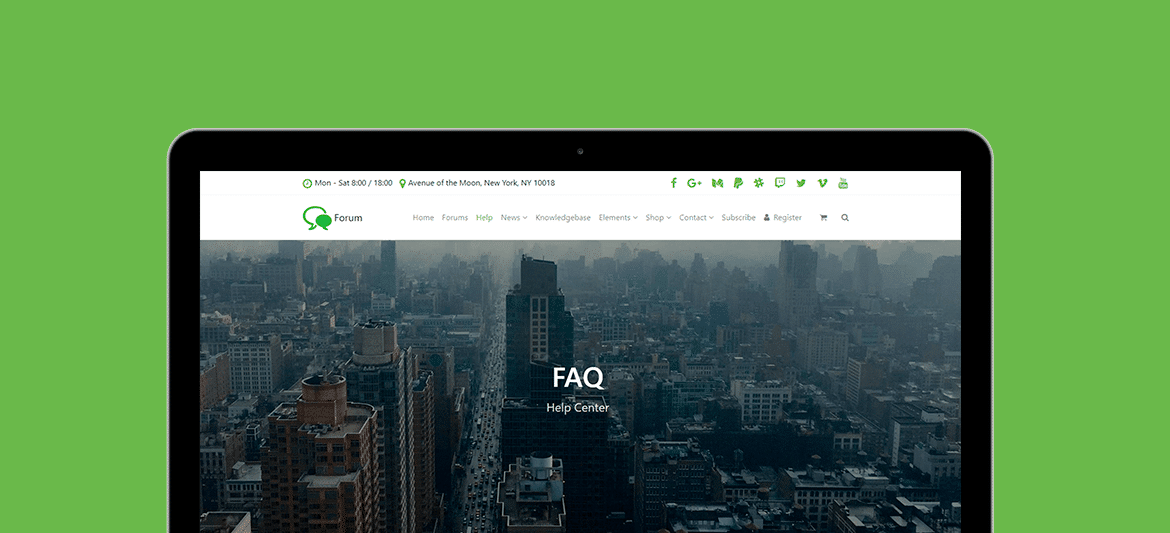 Forum WordPress Theme - Responsive View