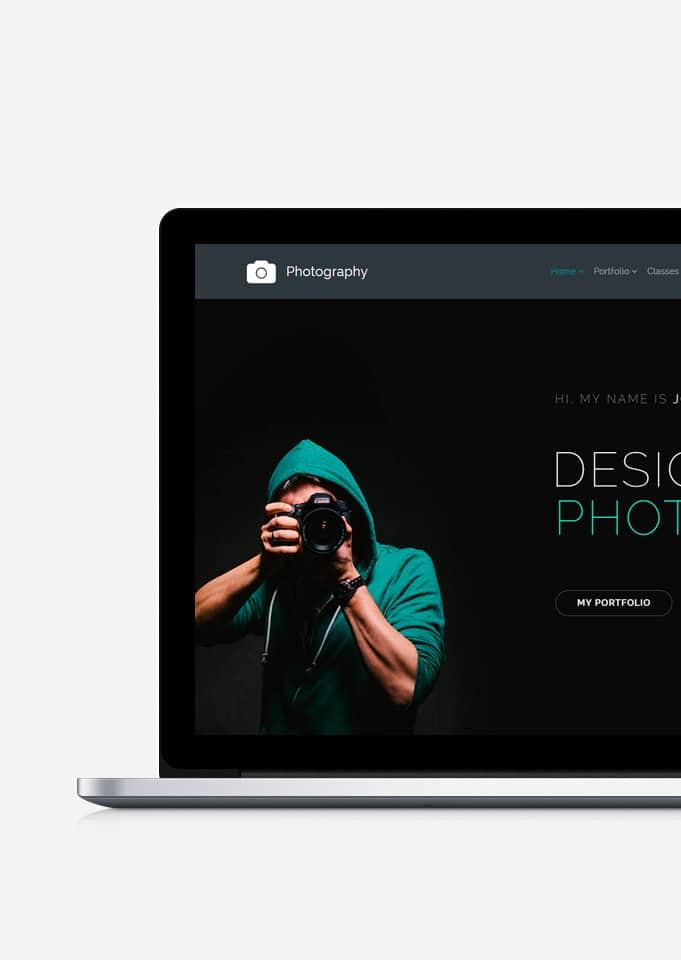 Photography WordPress Theme - Portfolio Presentations Builder