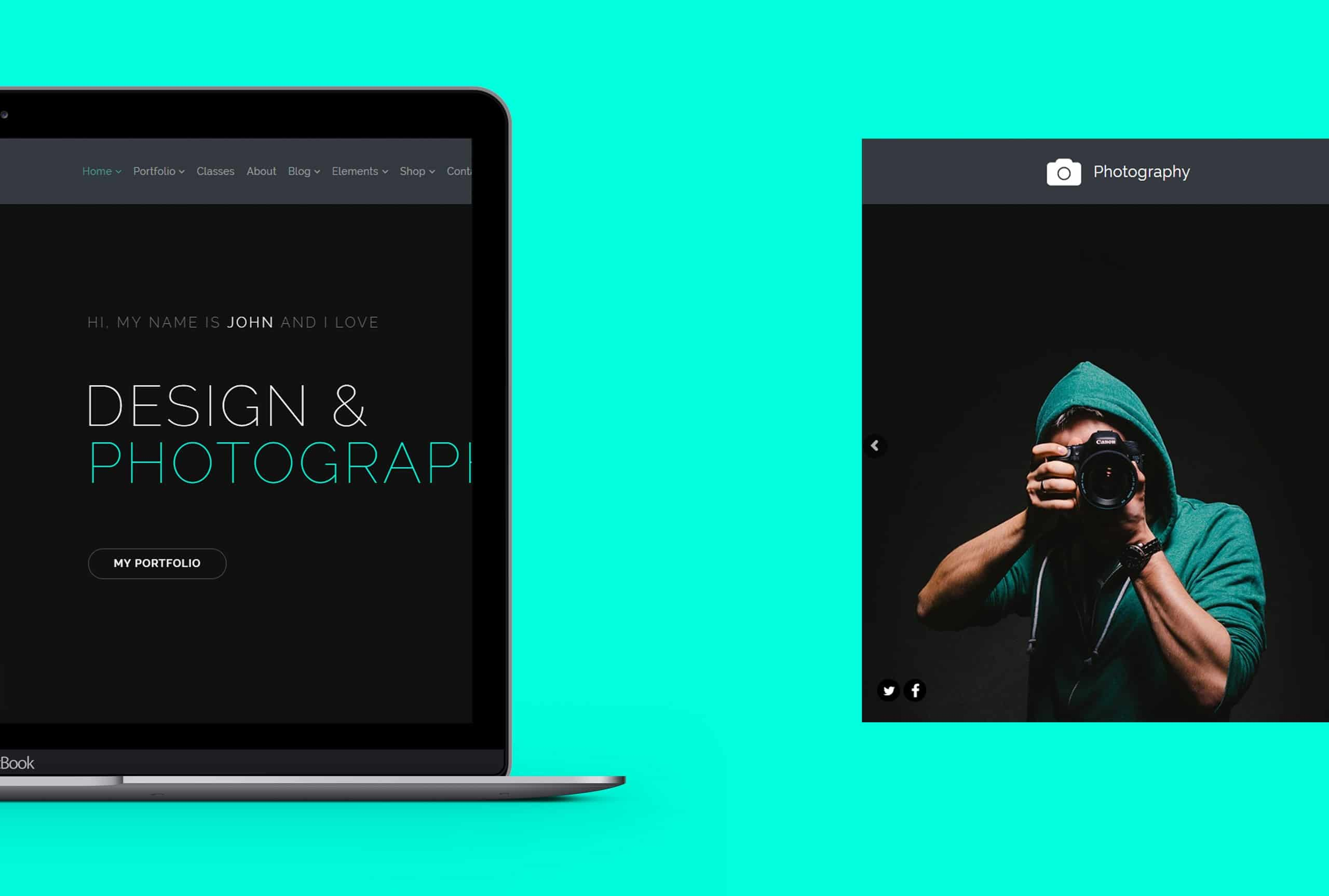 Photography WordPress Theme - Presentation