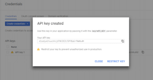 API Key Created