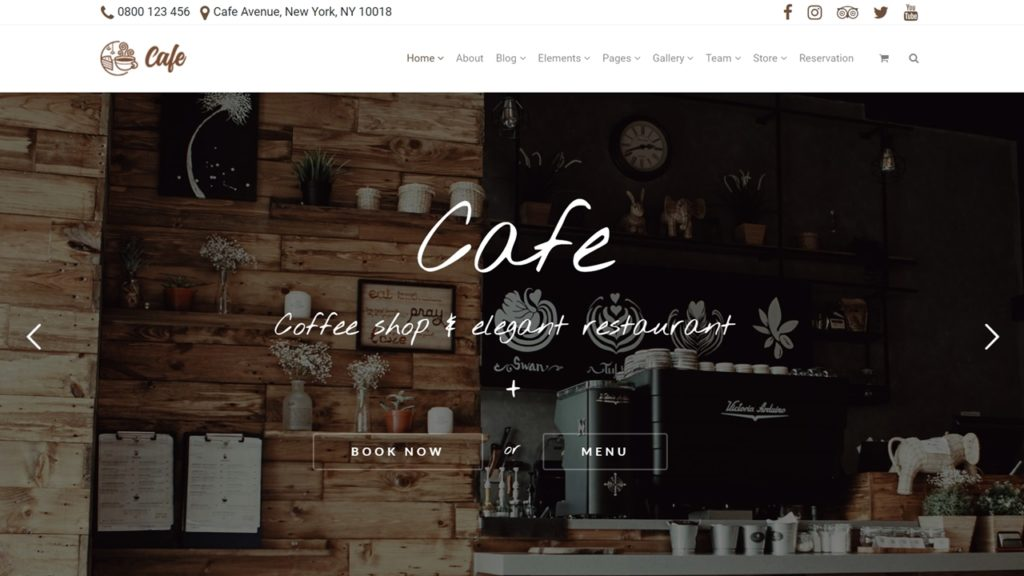 Cafe WordPress Theme - Coffee Shop Website Builder