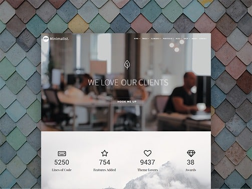 Minimalist WordPress Theme – Creative Responsive Site Builder