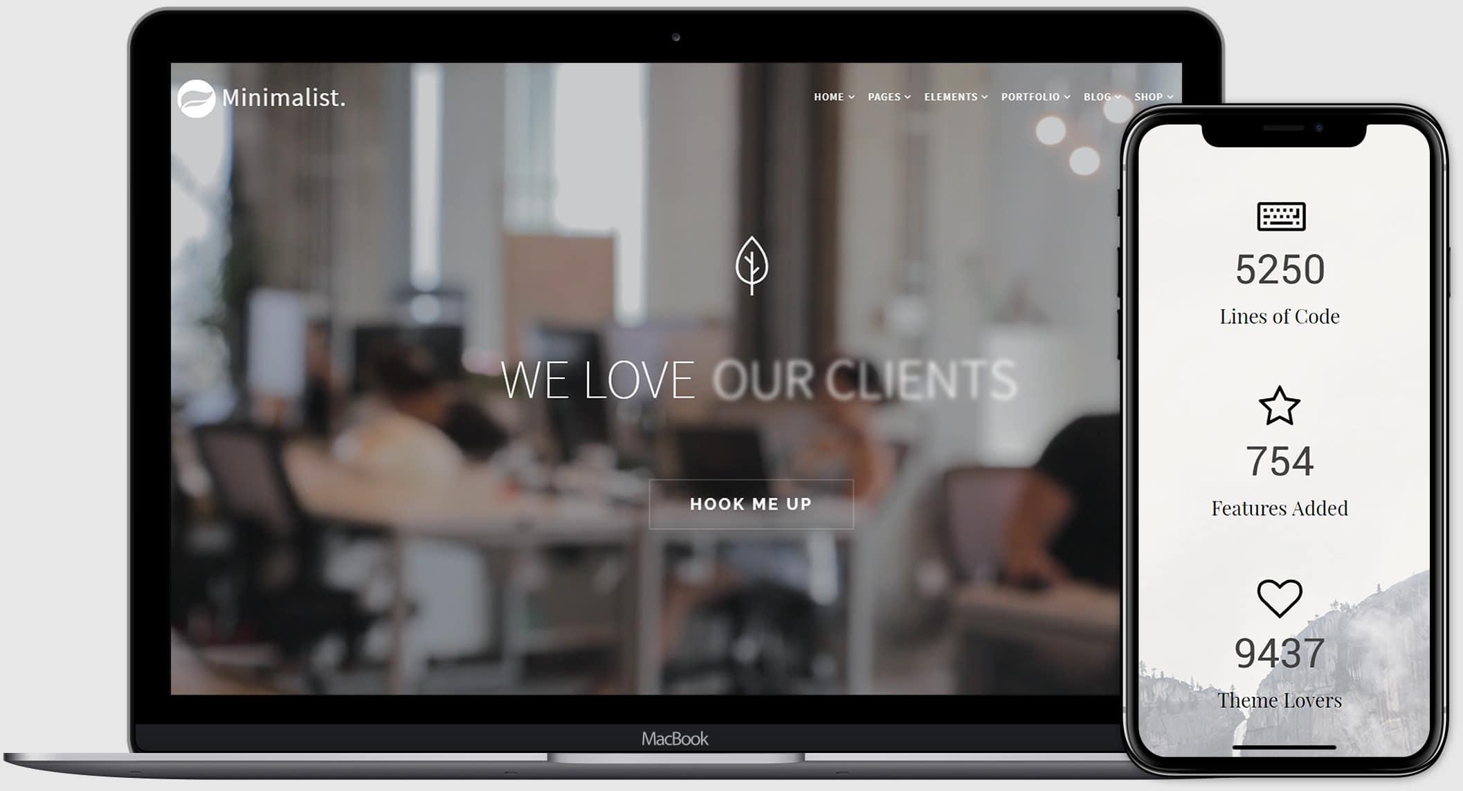 Minimalist WordPress Theme - Clean & Creative Responsive Template