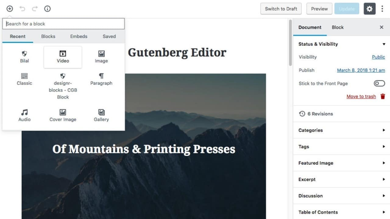 Page Builder Plugins Usage in WordPress 5 Gutenberg