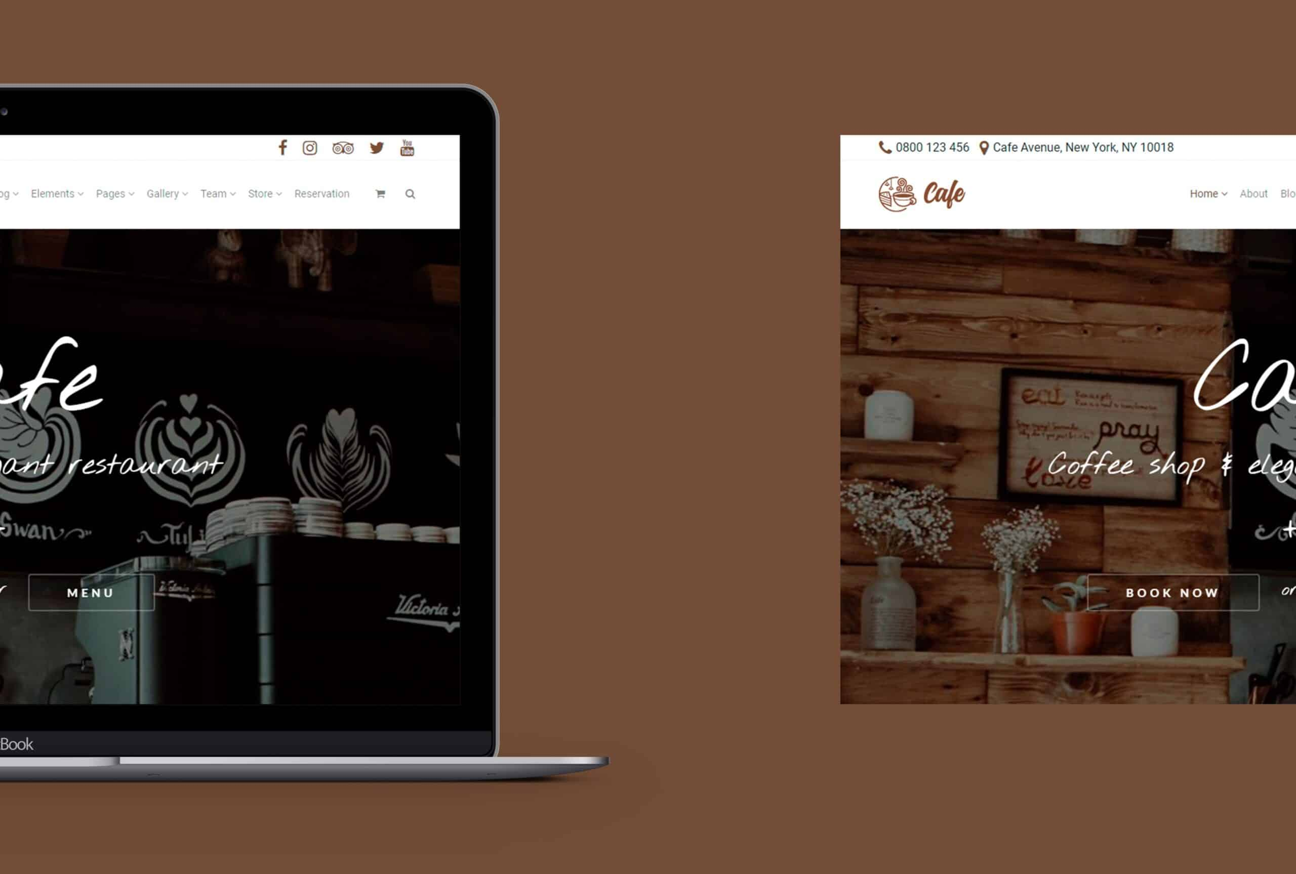 Laptop View - Cafe WordPress Theme