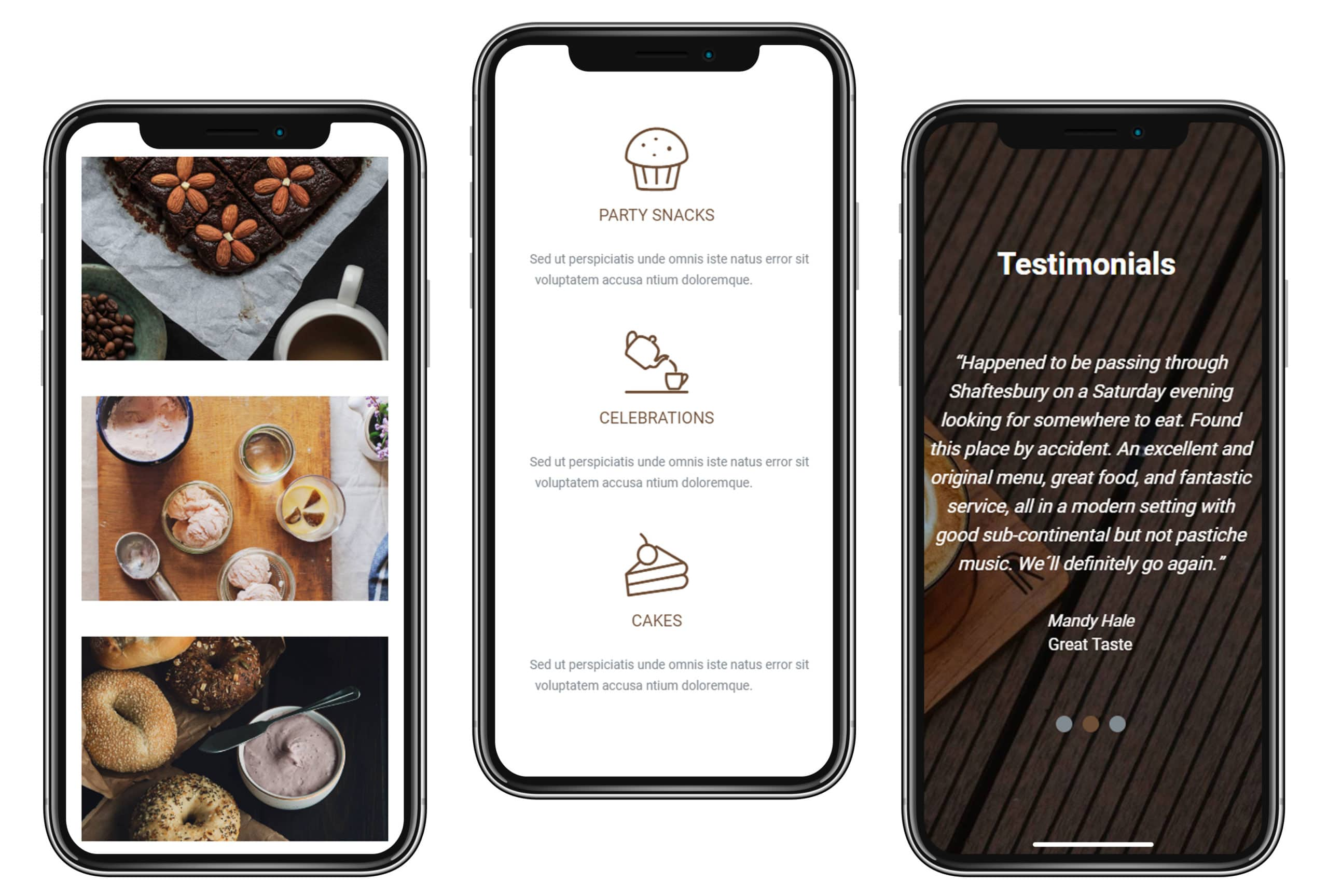 iPhone View - Cafe WordPress Theme