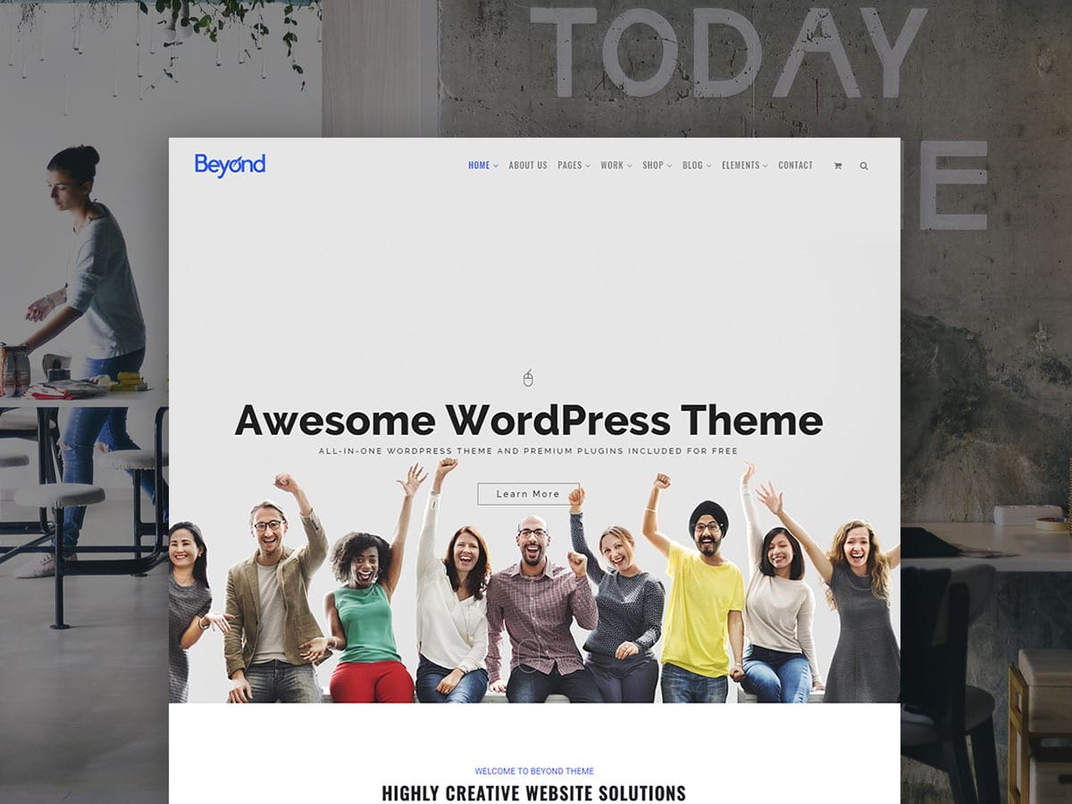 Beyond WordPress Theme - Responsive Multi-Purpose All-In-One Template
