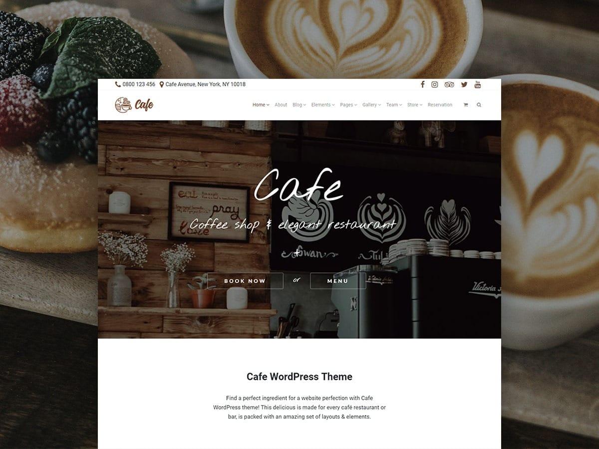 Cafe WordPress Theme – Responsive Coffee Shop Site Builder