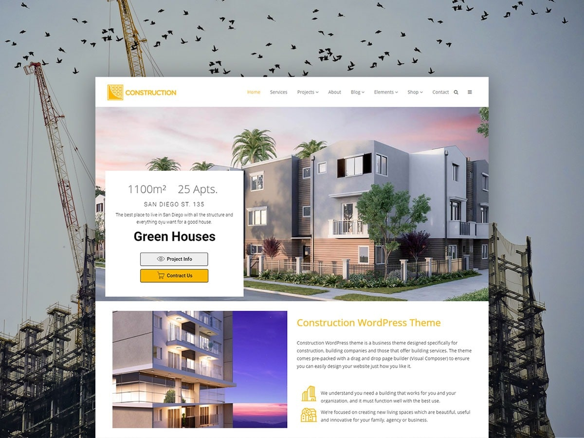 Construction WordPress Theme - Building Services & Developer Templates