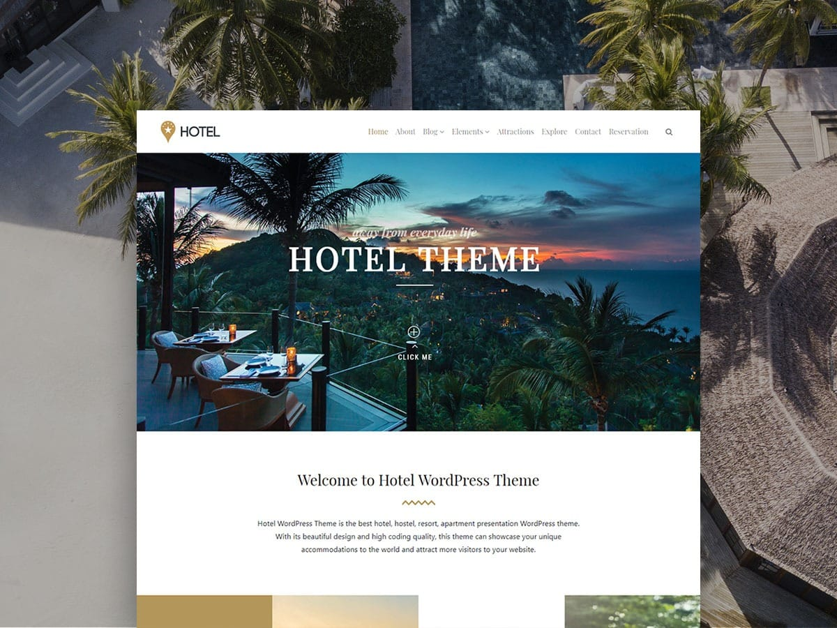 Hotel WordPress Theme – Responsive Website Builder