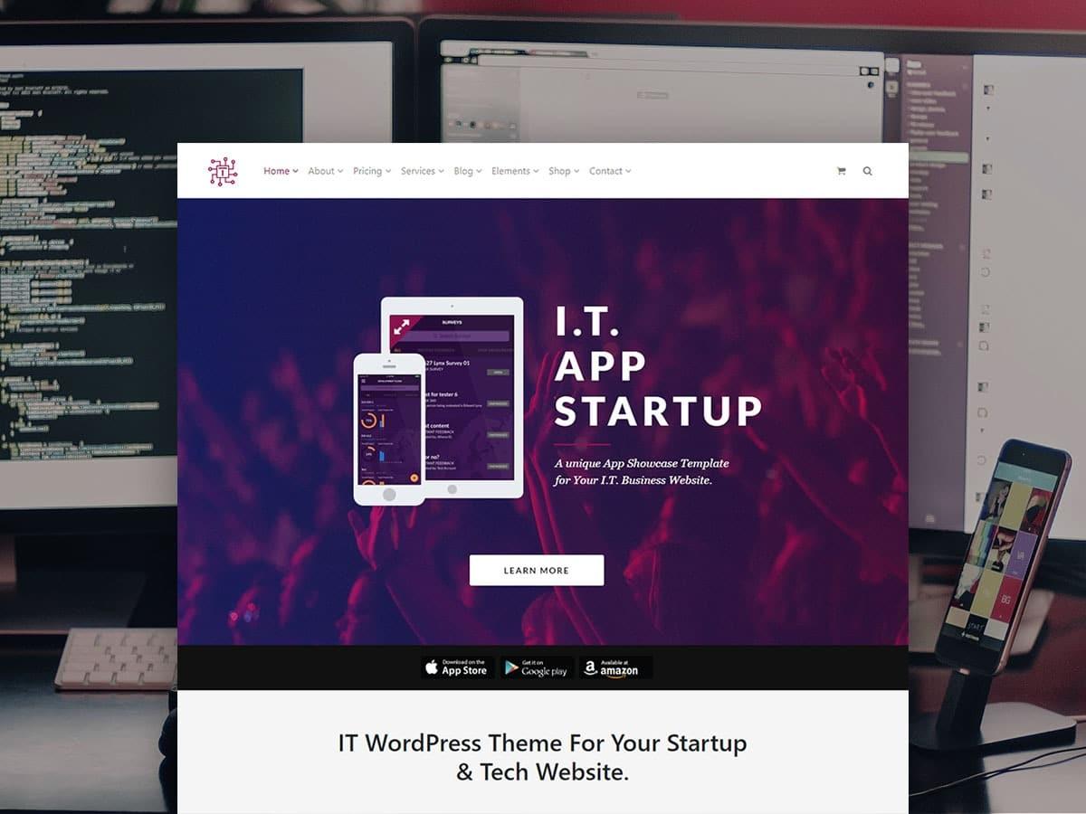 IT WordPress Theme - Tech & Startups Website Builder