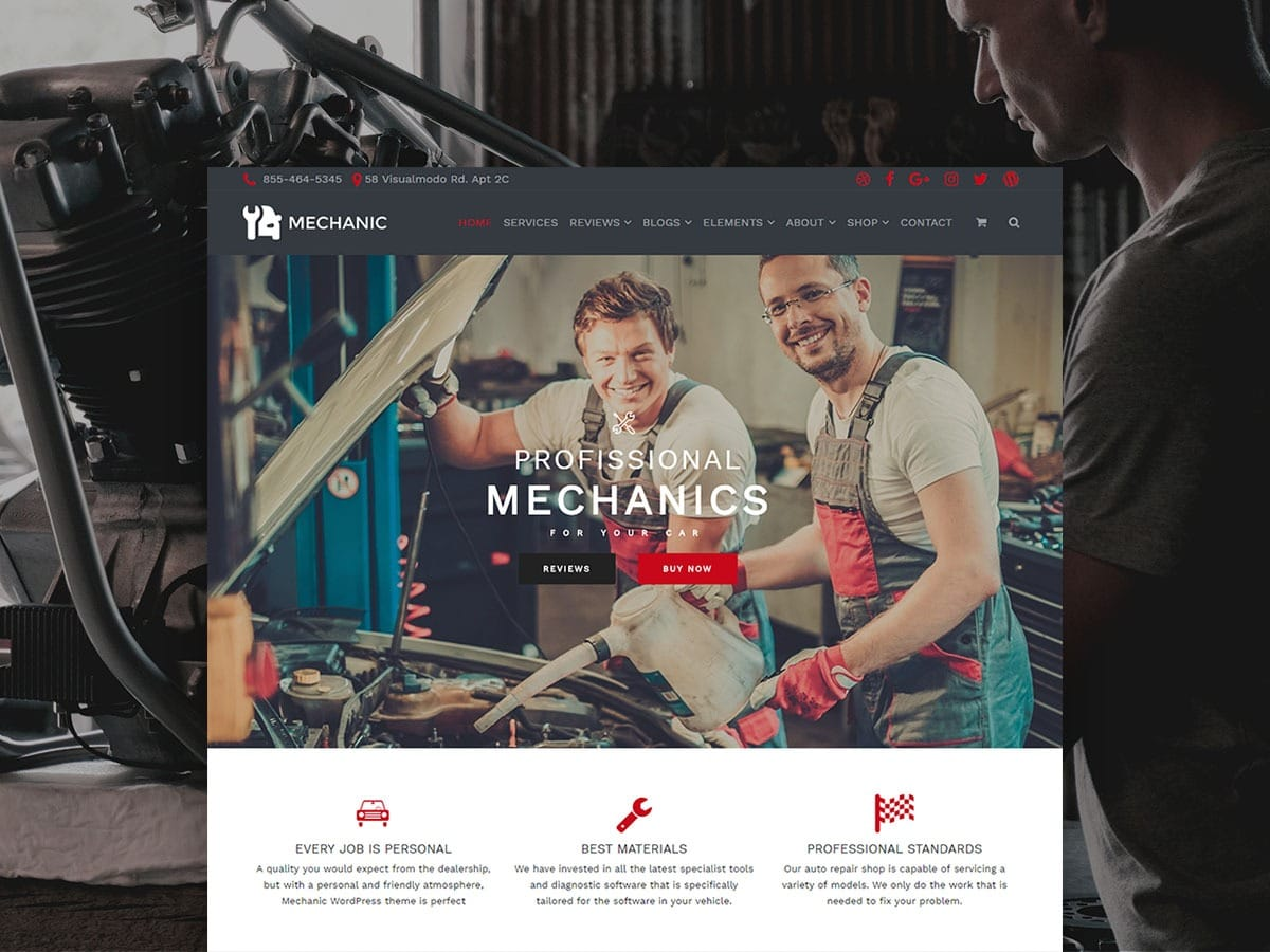 Mechanic WordPress Theme – Auto & Car Repair Site Builder