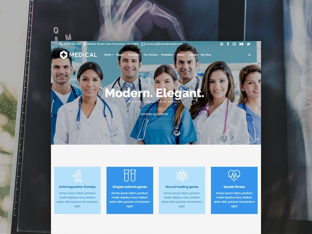 Medical WordPress Theme – Responsive Health Care and Clinic Template