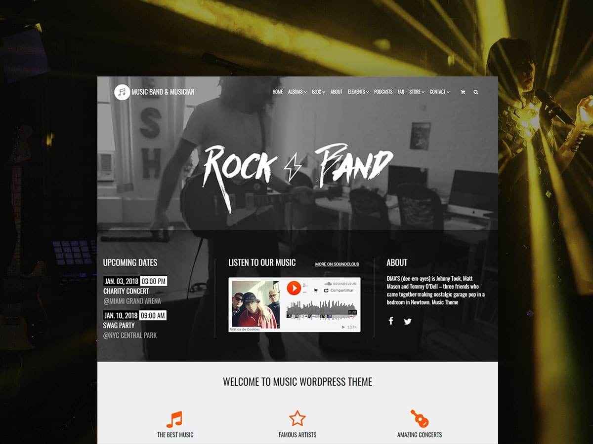 Music WordPress Theme – Music Band & Musician Template