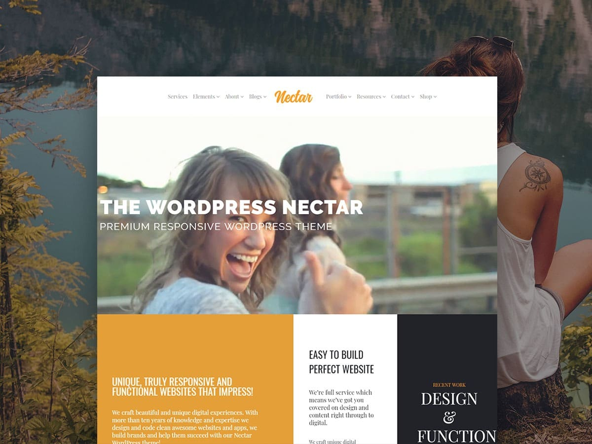 Nectar WordPress Theme - Responsive Live Website Builder Templates