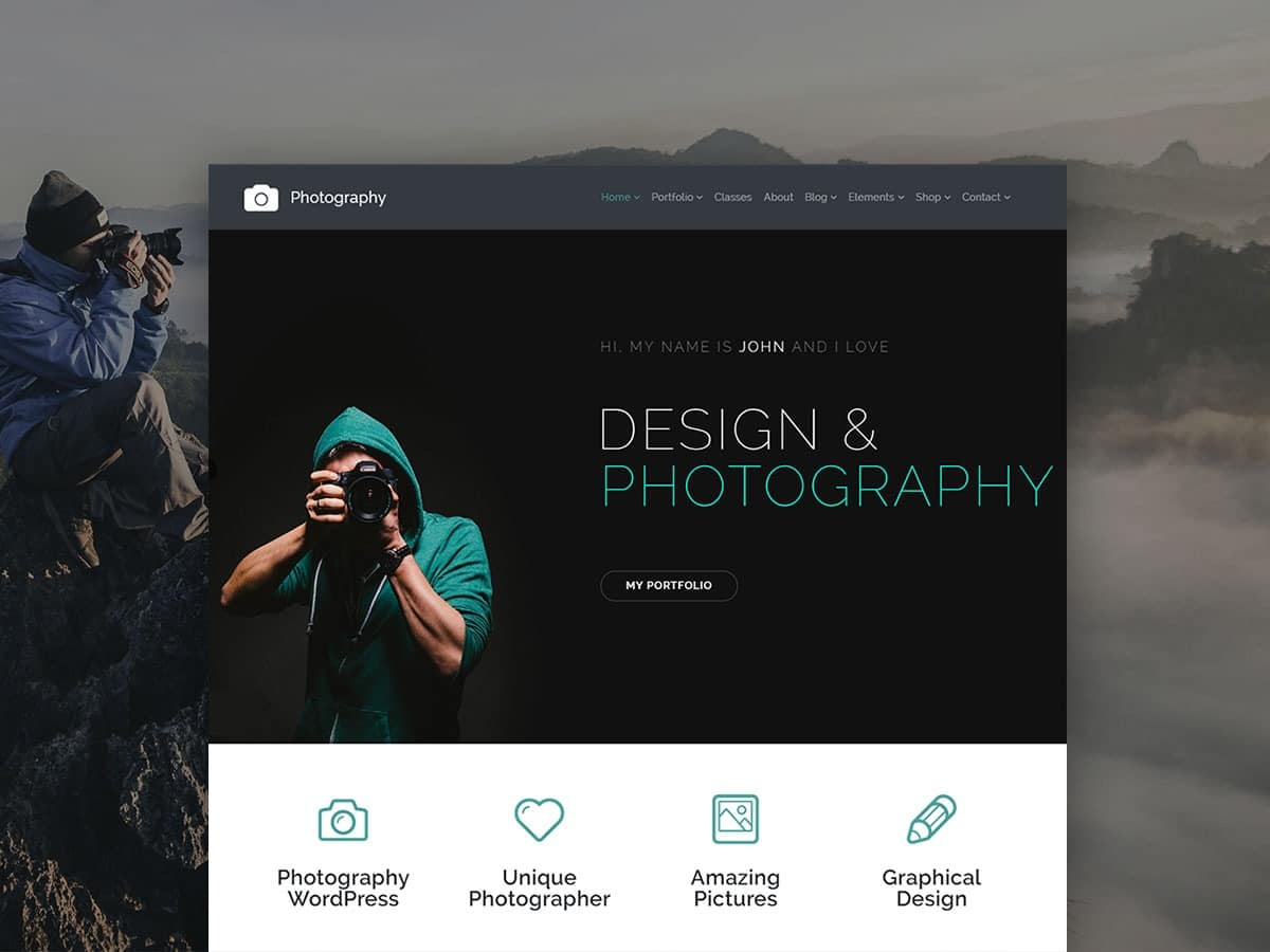 Photography WordPress Theme – Photographer Sites Builder