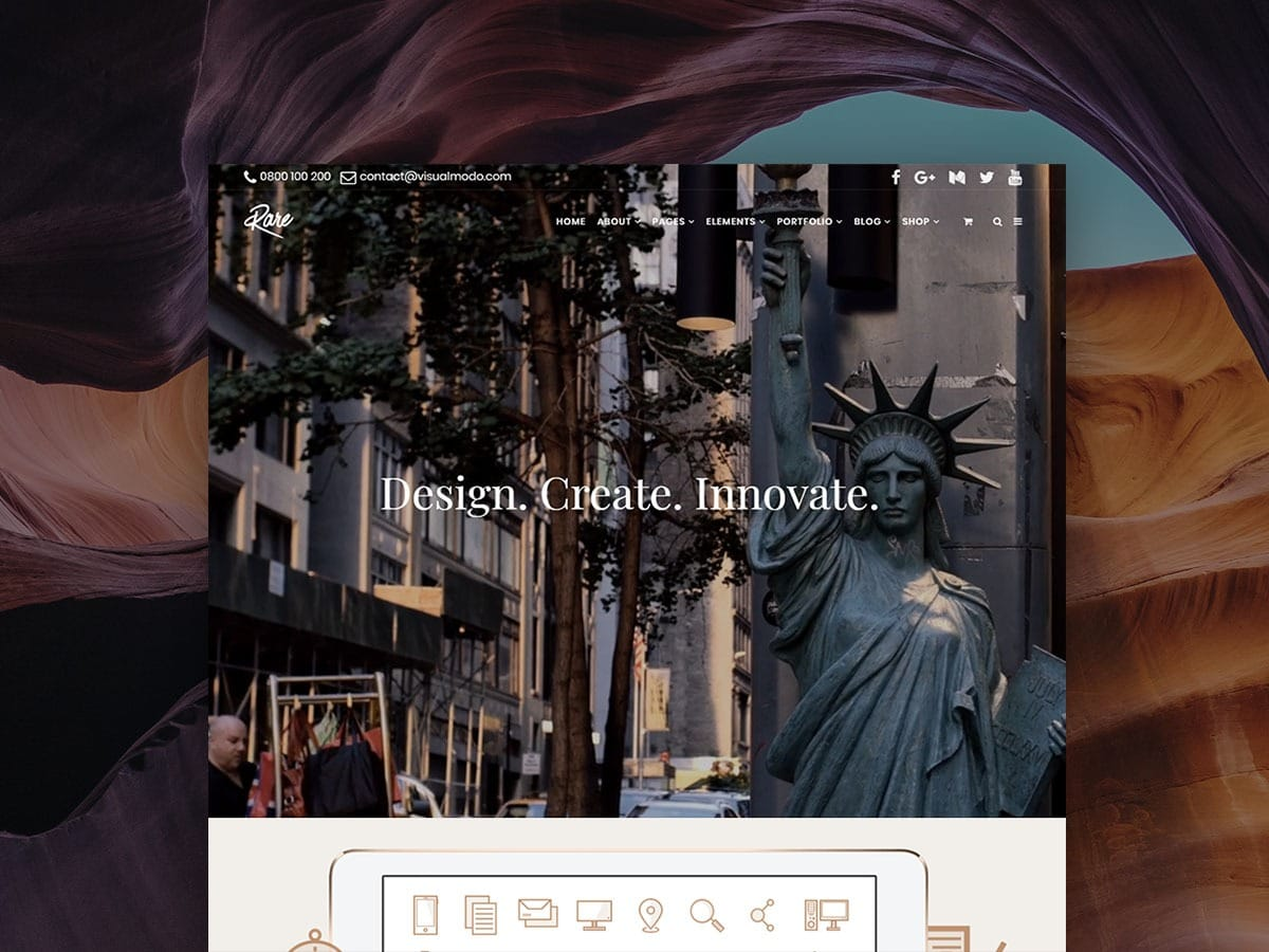 Rare Ultimate Responsive WordPress Theme - Multi-Purpose Template