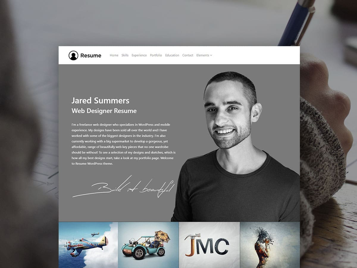 Resume WordPress Theme - Responsive CV Template