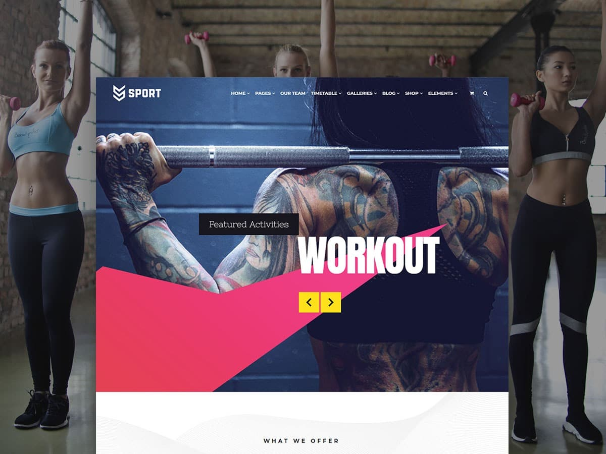 Sport WordPress Theme - Health and Fitness Responsive Template