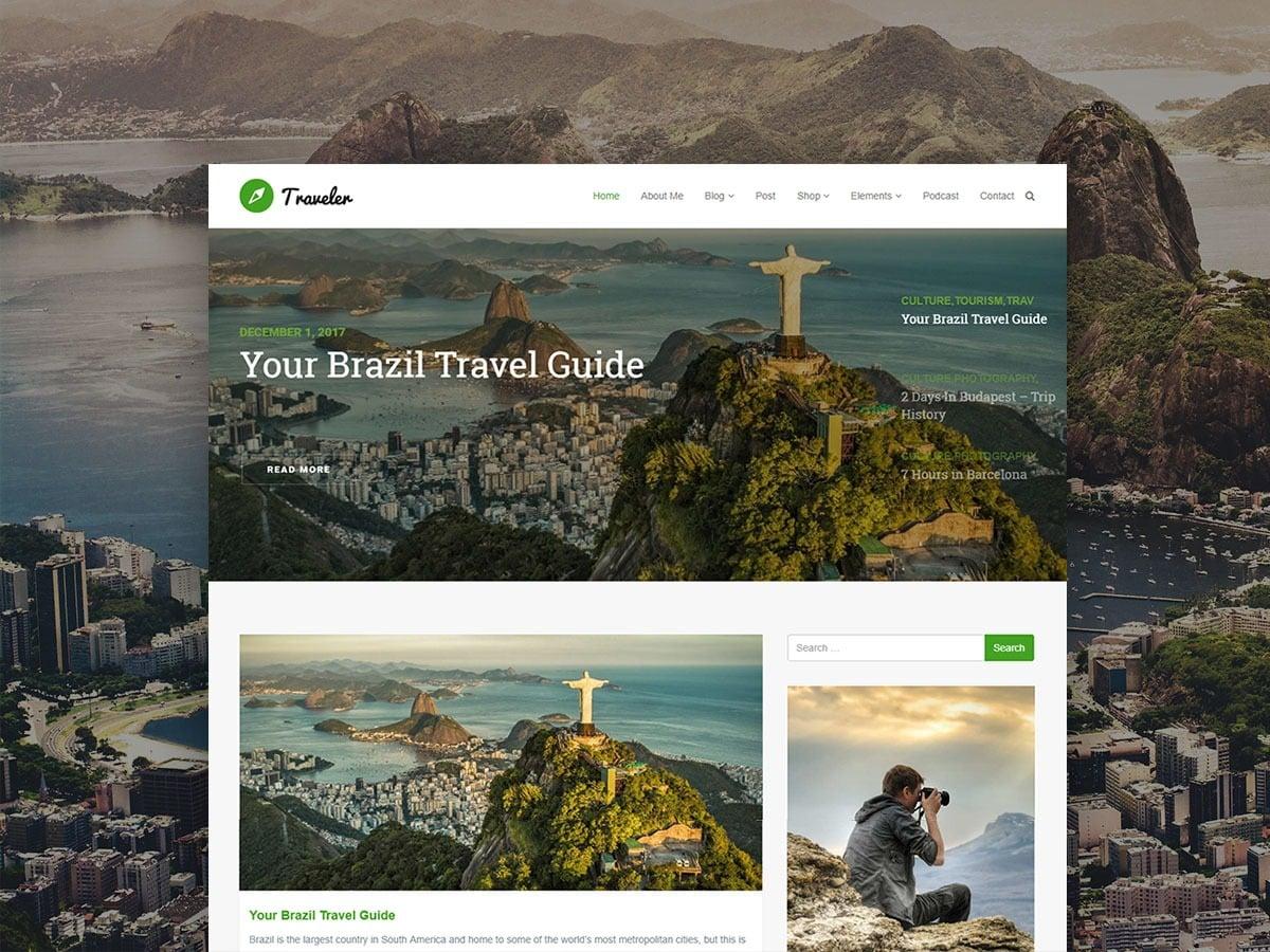 Traveler WordPress Theme – Responsive Blog WordPress Template