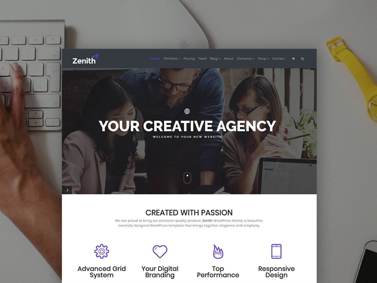 Zenith WordPress Theme - Portfolio & Agency Website Builder