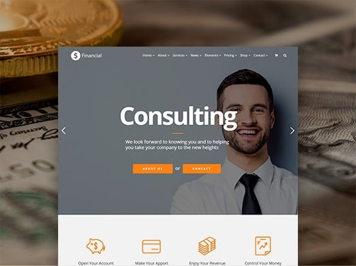 Financial WordPress Theme – Business & Consulting Responsive Templates