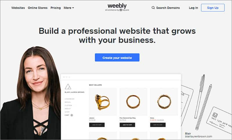 5 The Best Mobile Friendly Website Builders - Weebly