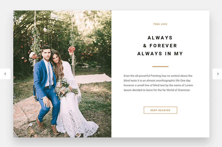 Best WordPress Theme for Weddings, Engagements and Newlyweds
