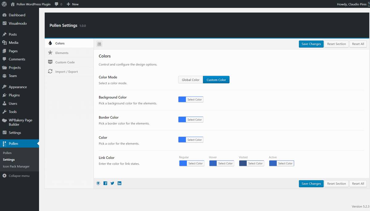 Pollen WordPress Plugin Documentation - Options Panel = Settings