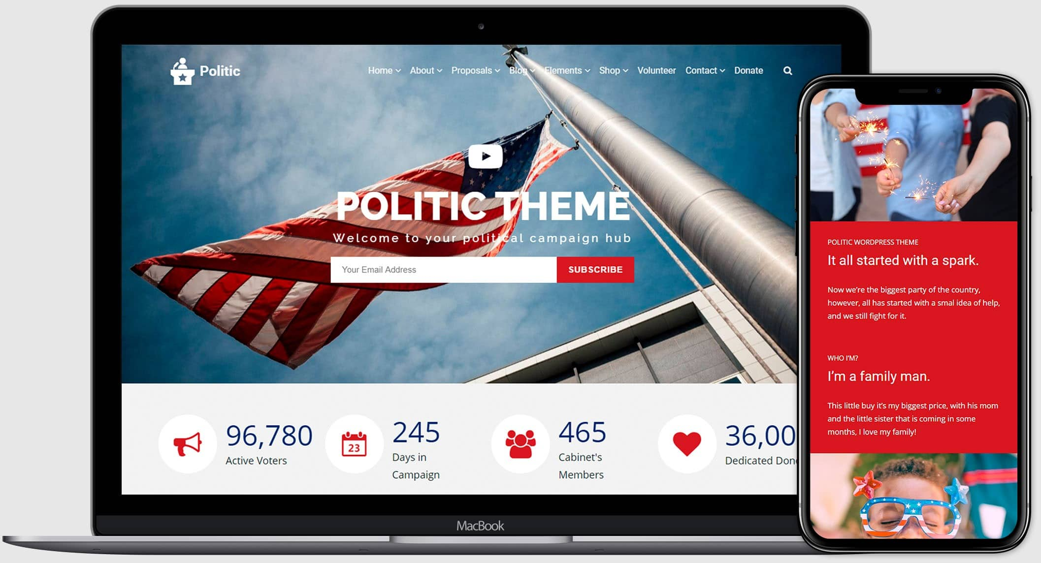 Politic WordPress Theme - Political Templates
