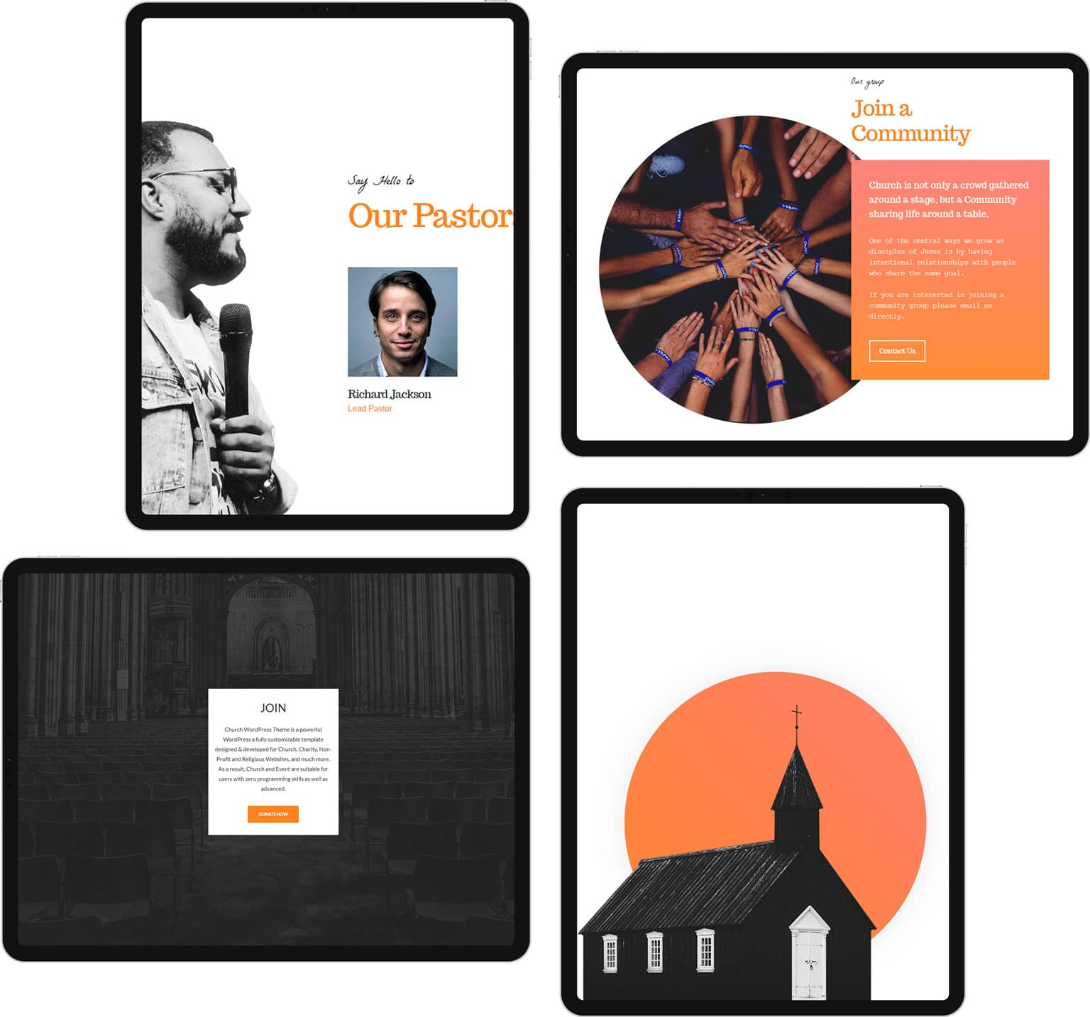 Church WordPress Theme - Responsive Religious Site builder