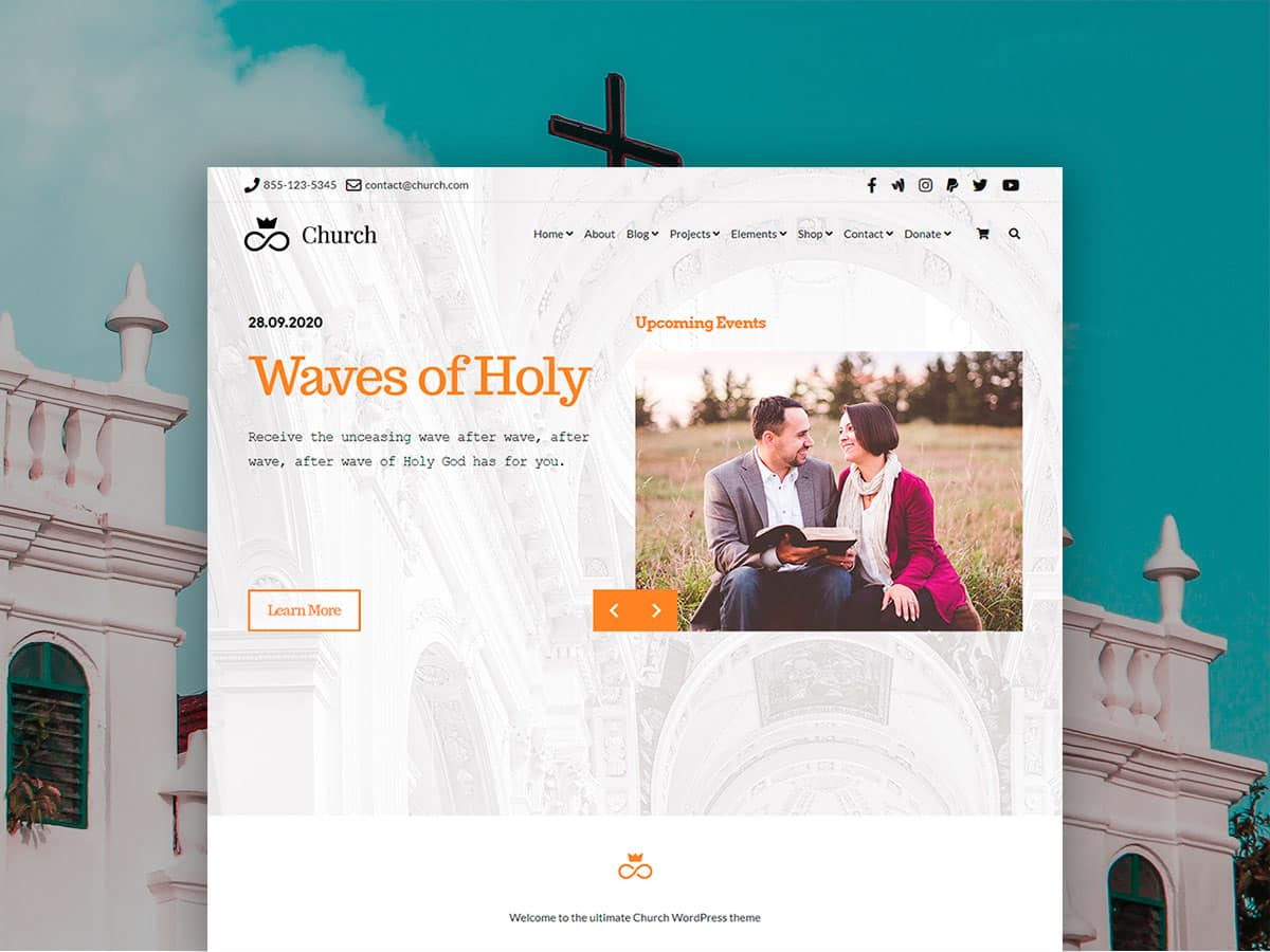 Church WordPress Theme – Religious Website Builder
