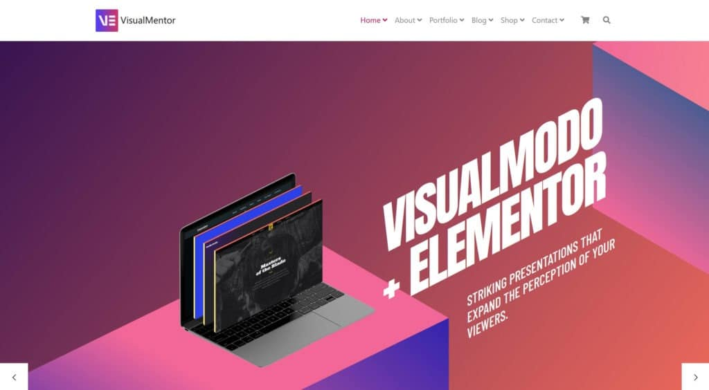 Home Slider - VisualMentor WordPress Theme