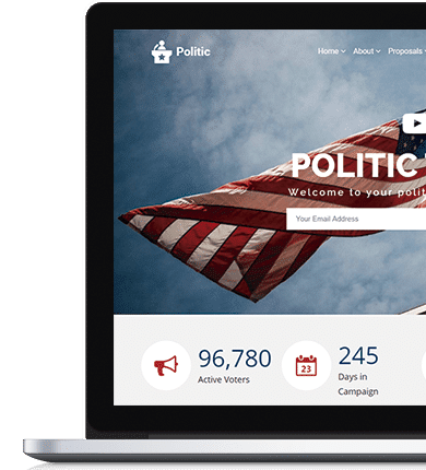Politic WordPress Theme - Candidate Campaign Website Builder