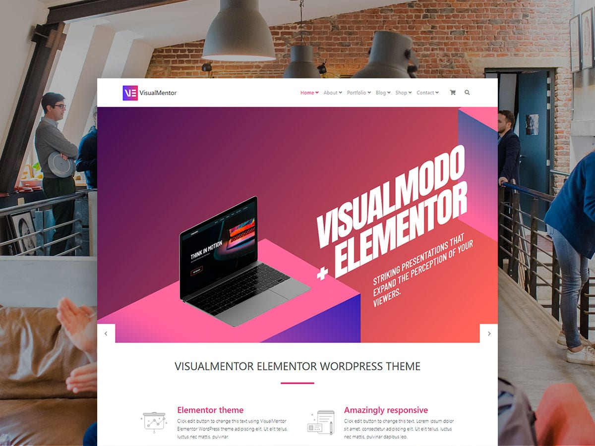 VisualMentor Premium Elementor WordPress Theme